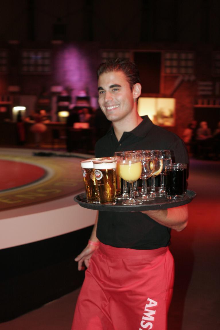 vacature van de ober in het casino